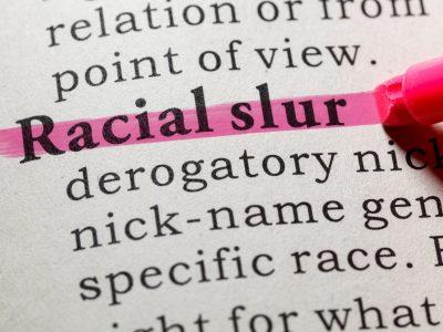 definition of racial slur